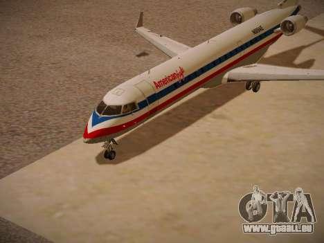 Bombardier CRJ-700 American Eagle für GTA San Andreas linke Ansicht