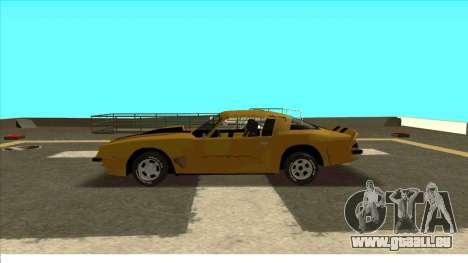 Chevrolet Camaro Z28 Bumblebee pour GTA San Andreas vue arrière