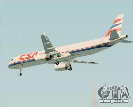 Airbus A321-200 CSA Czech Airlines für GTA San Andreas Unteransicht
