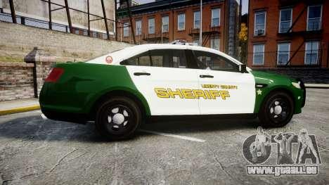 Ford Taurus 2014 Liberty City Sheriff [ELS] für GTA 4 linke Ansicht