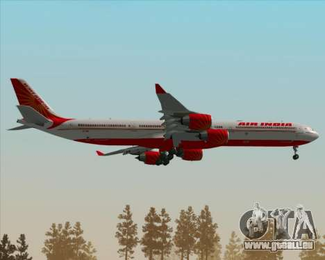 Airbus A340-600 Air India pour GTA San Andreas vue de dessus