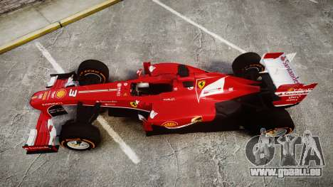 Ferrari F138 v2.0 [RIV] Alonso THD für GTA 4 rechte Ansicht
