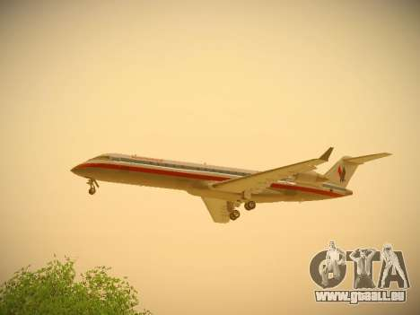 Bombardier CRJ-700 American Eagle pour GTA San Andreas vue intérieure
