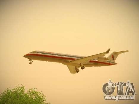 Bombardier CRJ-700 American Eagle für GTA San Andreas Innenansicht
