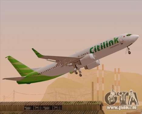 Boeing 737-800 Citilink pour GTA San Andreas moteur
