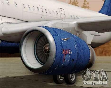 Airbus A321-200 Delta Air Lines pour GTA San Andreas vue de dessous