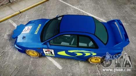 Subaru Impreza WRC 1998 Rally v2.0 Green für GTA 4 rechte Ansicht