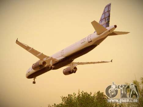 Airbus A321-232 jetBlue Blue Kid in the Town pour GTA San Andreas vue de dessous