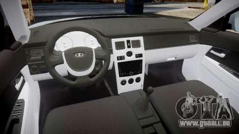 VAZ-2170 Priora lecteurs pour GTA 4 Vue arrière