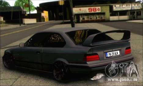 BMW E36 Stanced pour GTA San Andreas laissé vue