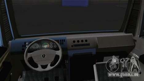 Mercedes-Benz Minibus 1974 für GTA San Andreas zurück linke Ansicht