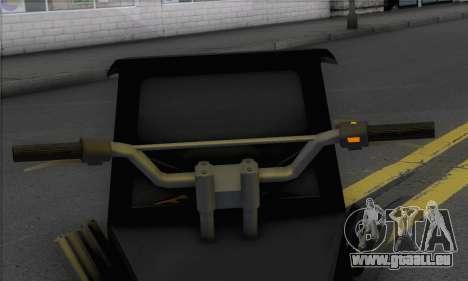 Sweeper from GTA 5 pour GTA San Andreas sur la vue arrière gauche