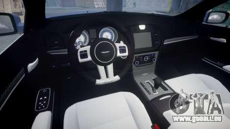 Chrysler 300 SRT8 2012 PJ SRT8 pour GTA 4 est une vue de l'intérieur