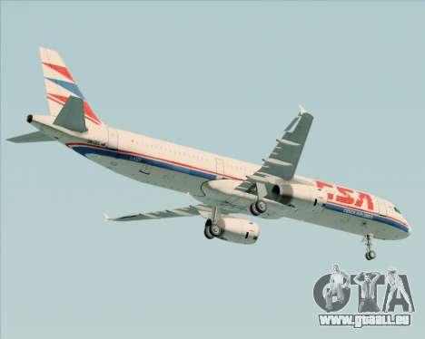 Airbus A321-200 CSA Czech Airlines für GTA San Andreas Rückansicht
