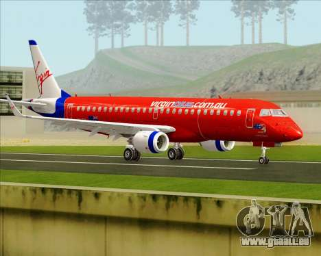 Embraer E-190 Virgin Blue pour GTA San Andreas vue de droite
