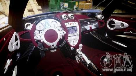 Pagani Huayra 2013 [RIV] für GTA 4 Innenansicht