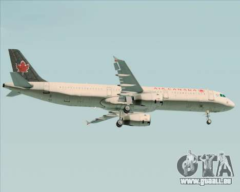 Airbus A321-200 Air Canada pour GTA San Andreas sur la vue arrière gauche