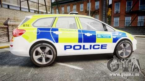 Vauxhall Astra Estate Metropolitan Police [ELS] pour GTA 4 est une gauche
