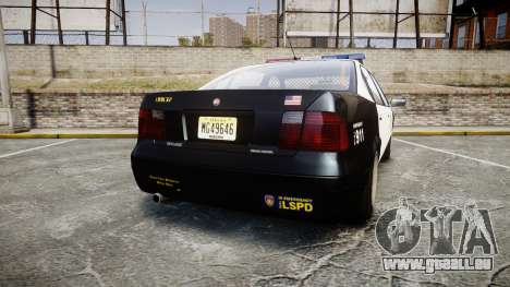 Declasse Merit LSPD [ELS] pour GTA 4 Vue arrière de la gauche