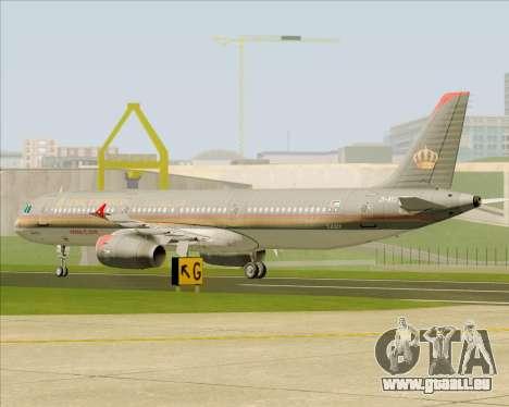 Airbus A321-200 Royal Jordanian Airlines für GTA San Andreas Seitenansicht