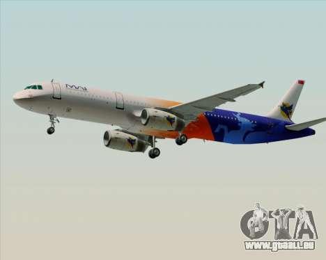 Airbus A321-200 Myanmar Airways International für GTA San Andreas Innenansicht