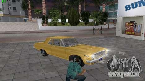 Dodge 330 Max Wedge Ramcharger 1963 für GTA Vice City rechten Ansicht