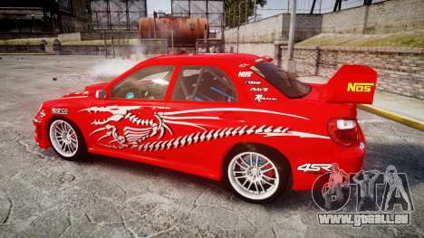 Subaru Impreza WRX STI Street Racer pour GTA 4 est une gauche