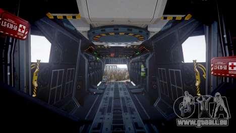 VTOL Warship PJ3 für GTA 4 Rückansicht
