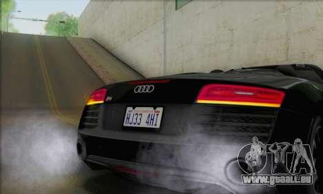Audi R8 V10 Spyder 2014 pour GTA San Andreas vue intérieure