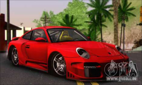 Porsche 997 Turbo Tunable für GTA San Andreas Innenansicht