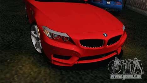 BMW Z4 sDrive28i 2012 Racing für GTA San Andreas rechten Ansicht