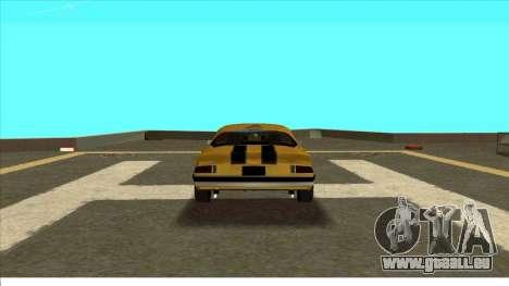 Chevrolet Camaro Z28 Bumblebee pour GTA San Andreas vue de droite