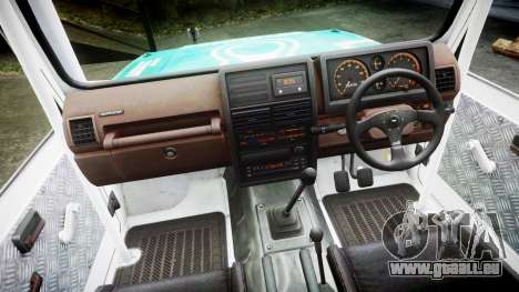 Suzuki Samurai pour GTA 4 Vue arrière