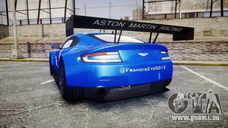 Aston Martin Vantage GTE Nico Yazawa pour GTA 4 Vue arrière de la gauche