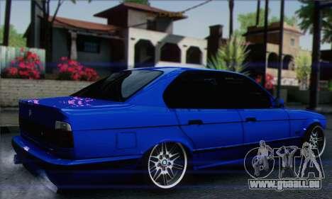BMW M5 E34 V10 pour GTA San Andreas laissé vue