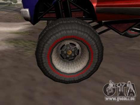 De nouvelles textures Monstre pour GTA San Andre pour GTA San Andreas sur la vue arrière gauche