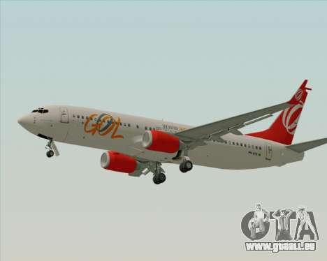 Boeing 737-800 Gol Transportes Aéreos pour GTA San Andreas vue arrière