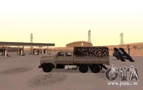 Caserne avec quatre portes pour GTA San Andreas laissé vue