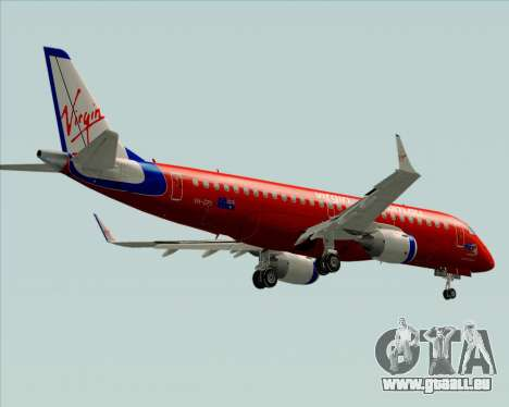 Embraer E-190 Virgin Blue für GTA San Andreas obere Ansicht