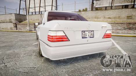 Mercedes-Benz E500 1998 Tuned Wheel White für GTA 4 hinten links Ansicht