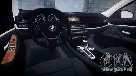 BMW 530d F11 pour GTA 4 est une vue de l'intérieur