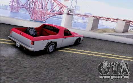 New Picador pour GTA San Andreas sur la vue arrière gauche