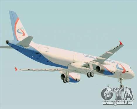 Airbus A321-200 Ural Airlines pour GTA San Andreas vue de côté