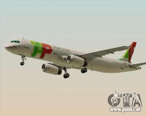 Airbus A321-200 TAP Portugal für GTA San Andreas linke Ansicht