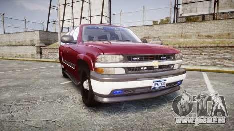 Chevrolet Suburban Undercover 2003 Black Rims pour GTA 4