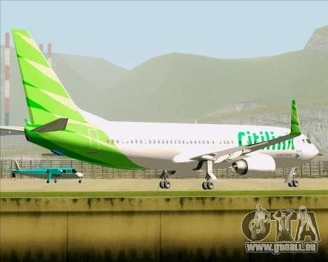 Boeing 737-800 Citilink pour GTA San Andreas vue de côté