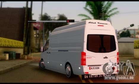 Mercedes-Benz Sprinter Panelvan für GTA San Andreas linke Ansicht