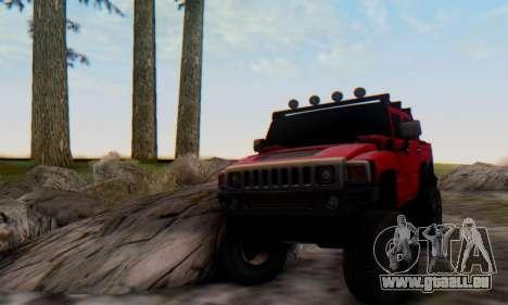 Hummer H6 Sut Pickup für GTA San Andreas rechten Ansicht