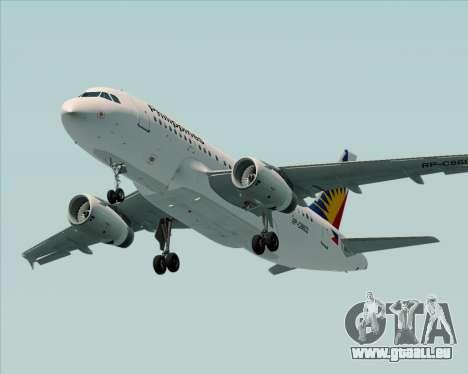 Airbus A319-112 Philippine Airlines für GTA San Andreas Innen