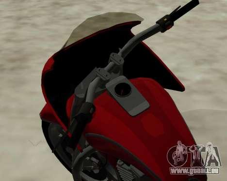 Bagger pour GTA San Andreas vue intérieure